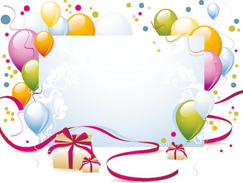 Рамка днем рождения прозрачном фоне