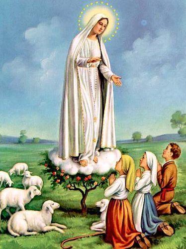 Znalezione obrazy dla zapytania obraz matki Fatimskiej