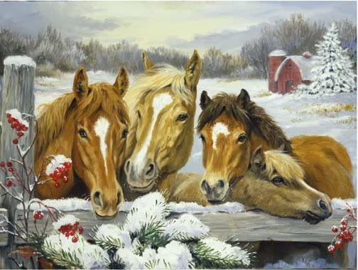peinture chevaux wallpaper - photo #8